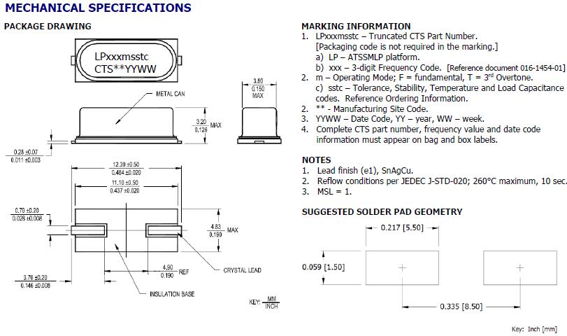 进口石英晶体谐振器,49smd大体型无源晶振,atssmlp晶振