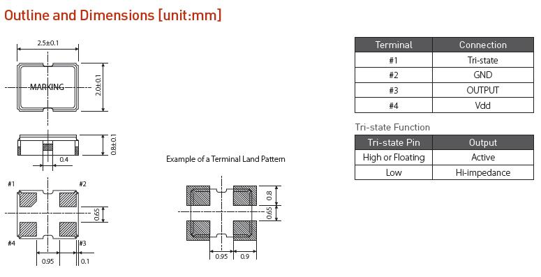 希华晶振,有源晶振,SHO-2520晶振,贴片有源晶振