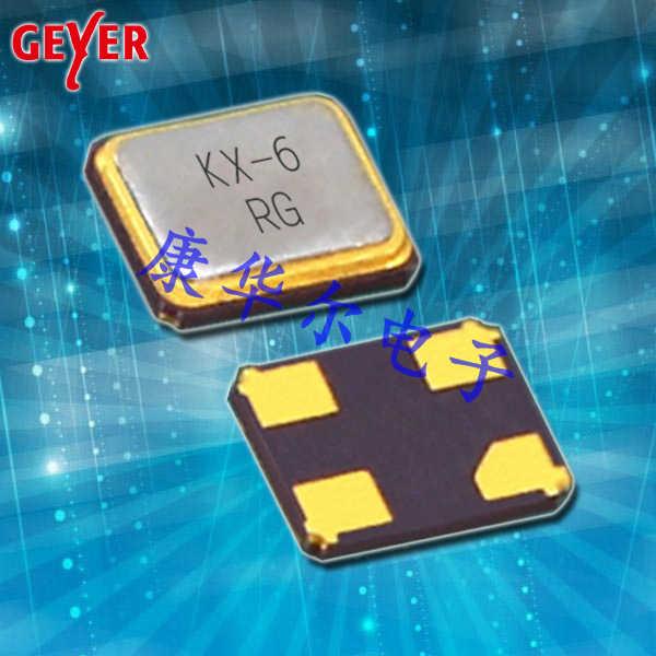 GEYER晶振,进口SMD晶振,KX-6耐高温晶振