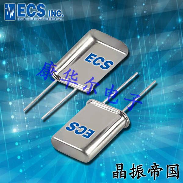 ECScrystal晶振,插件石英晶振,HC-49UX晶体