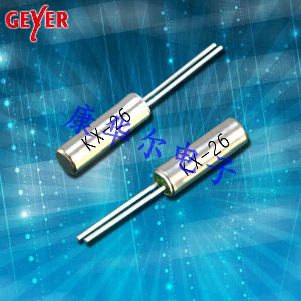 GEYER晶振,耐撞击晶振,KX-38插件晶体谐振器