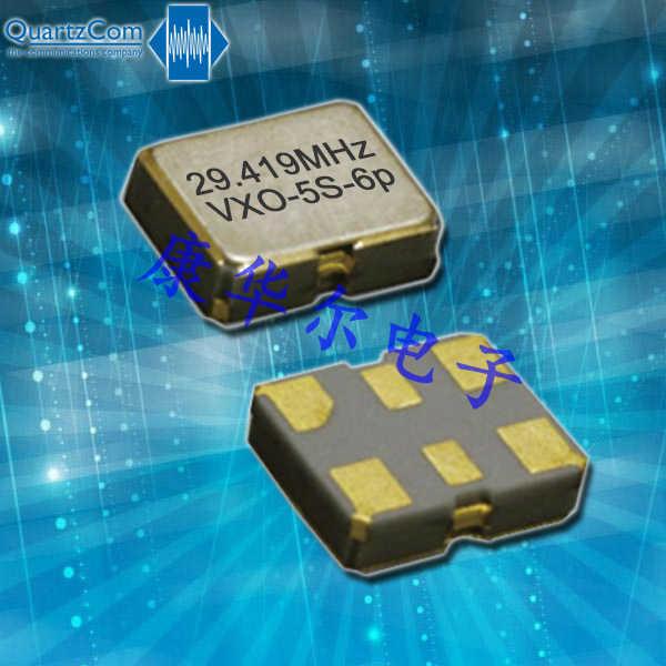 QuartzCom晶振,VCXO石英晶体振荡器,VXO-5S-6p晶振